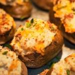 Gevulde aardappels met geitenkaas