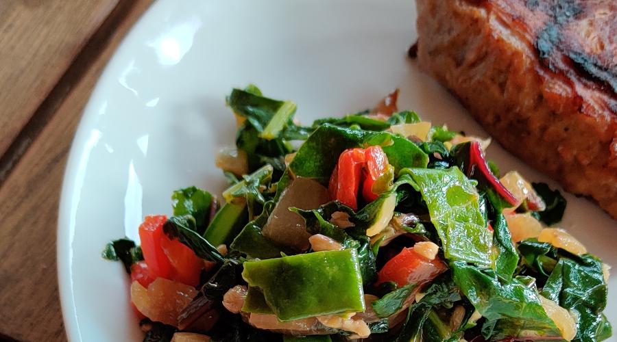 Gewokte groente met zeebiet