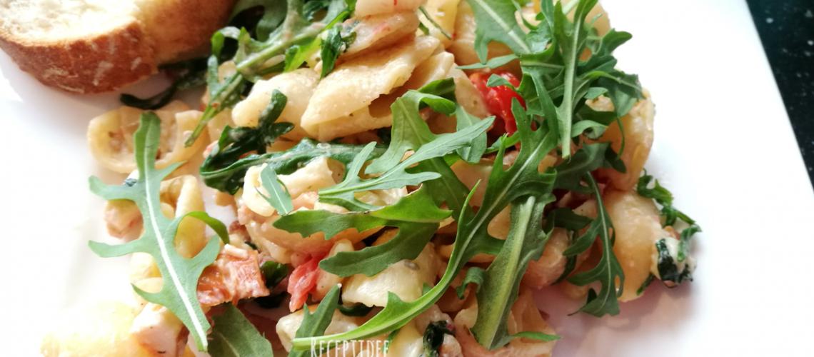 pasta salade gerookte kipfilet